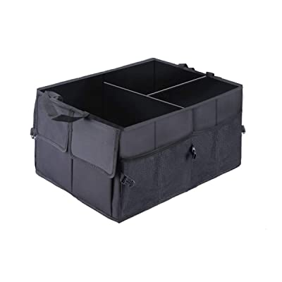 Car Trunk Storage Organizer Compartment Collapsible Portable Storage Cargo Box for SUV, Auto, Truck - Nonslip Waterproof Bottom: Home Improvement