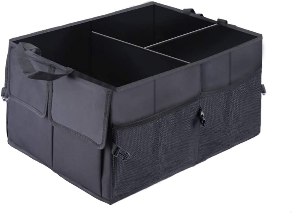 Collapsible Portable Storage Cargo Box for SUV Auto Car Trunk Organizers and Storage,Trunk Cargo Organizer for Car Groceries with Compartment Truck