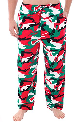 - Alexander Del Rossa Mens Flannel Pajama Pants, Long Cotton Pj Bottoms, XL Christmas Camo (A0705N26XL)