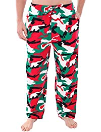 Mens Flannel Solid and Novelty Pajama Pants, Long Cotton...