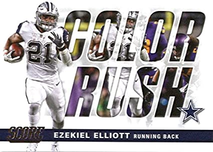quality design a8c11 4b140 Amazon.com: 2017 Score Color Rush #13 Ezekiel Elliott Dallas ...
