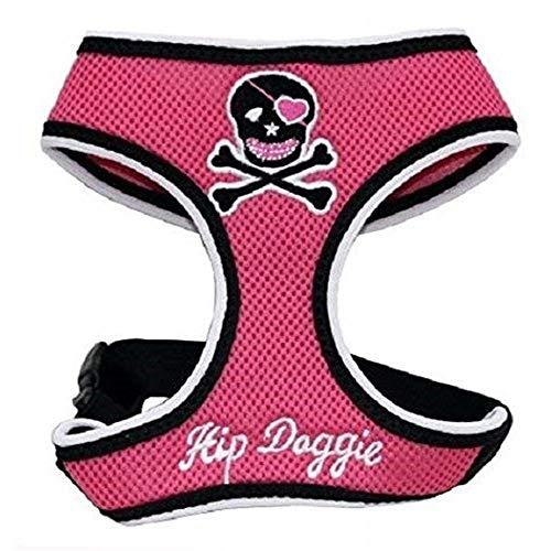 (Hip Doggie Skull Harness Vest (2XS) (Pink))