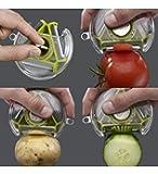 3 Bladed 3 In 1 Design Rotary Vegetable Fruit Peeler, Assorted