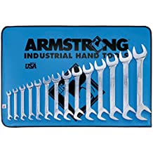 Armstrong 27-895 14 Piece Full Polish 15° and 60° Angle Open End Wrench Set