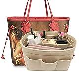 Lexsion Felt Handbag Organizer ,Insert purse organizer Structure Shaper fits Speedy Beige M