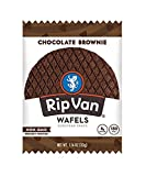 Rip Van Wafels Non-GMO Snack Wafels, Chocolate Brownie, 12 Count, 13.92 OZ, low calorie & low sugar