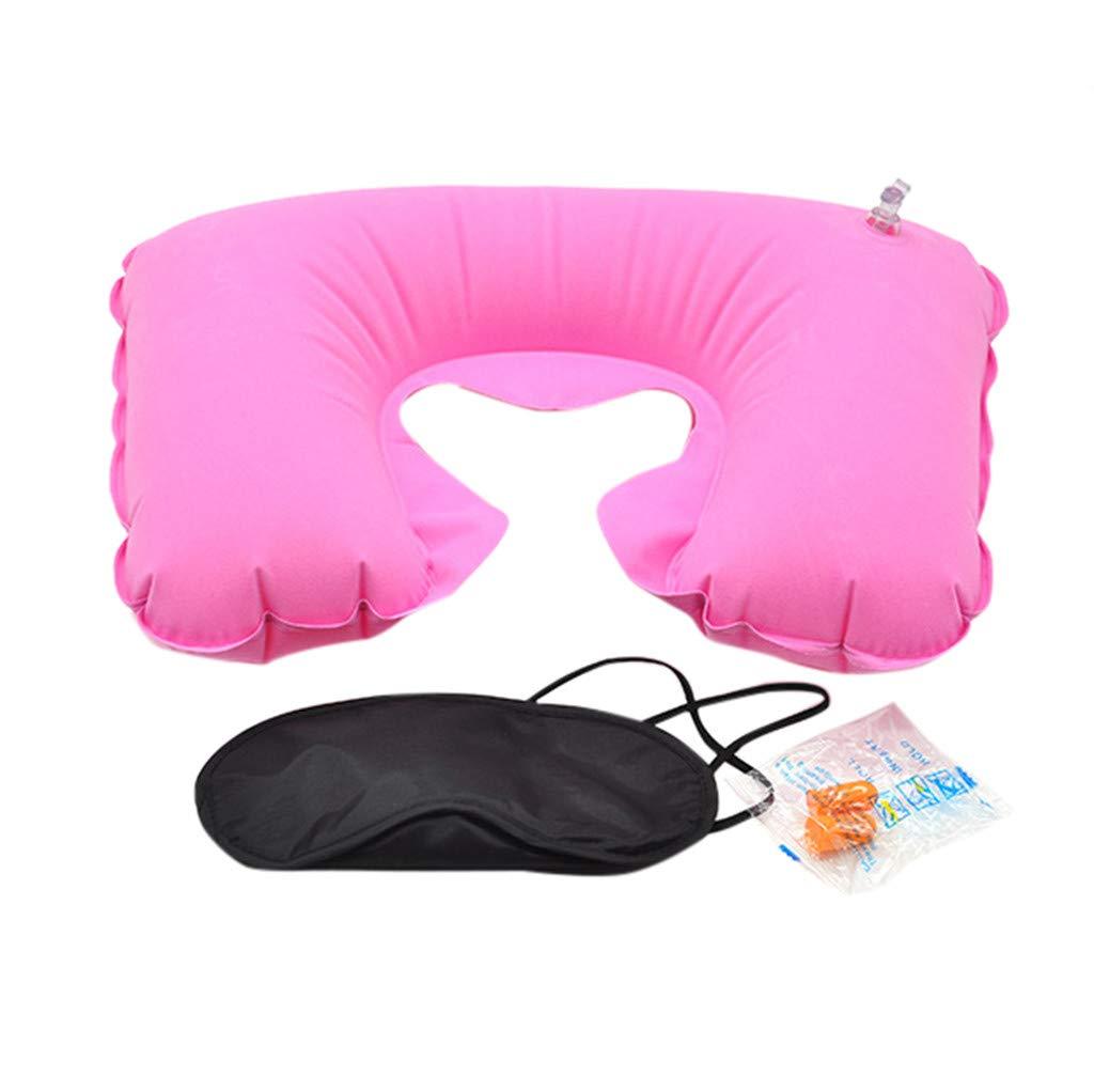Earplug Set Eye Mask Kariwell Travel Pillow for Restful Sleep On an Airplane New Inflatable Flight Pillow Neck U Rest Air Cushion