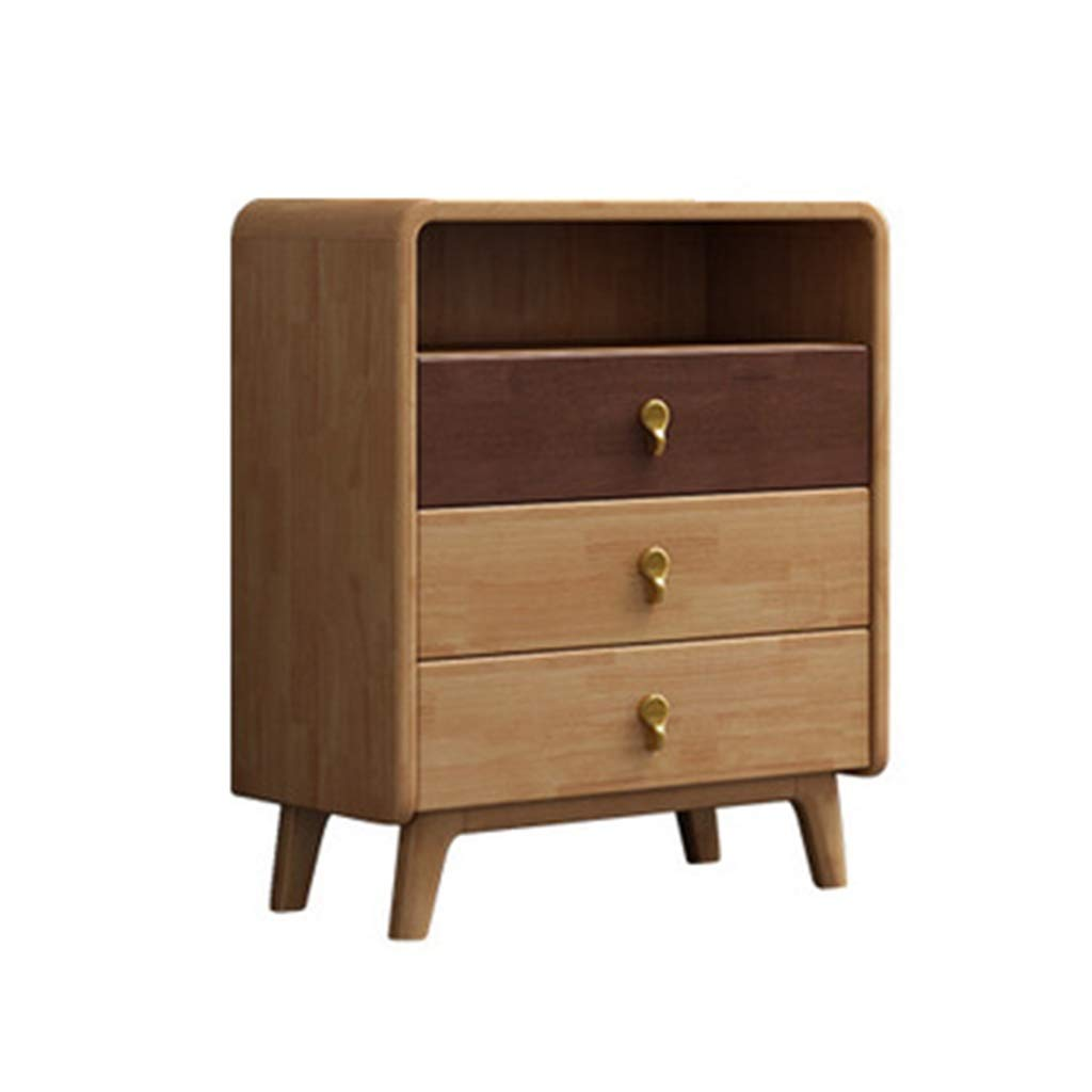 Liu Weiqin Four Drawer Drawers, Modern Living Room Drawers, Solid Wood Foot lockers, Bedroom Furniture (Color : A) by Liu Weiqin