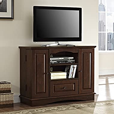 Walker Edison 42  Highboy Style Wood TV Stand Console, Brown