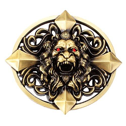 MagiDeal Gothic Keltic Cross 3D Skull Lion Head Heavy Belt Buckle Men Western Celtic