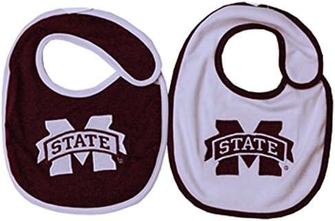 Jenkins Enterprises Mississippi State Bulldogs NCAA Baby Bibs 2 Pack