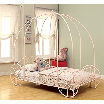 Amazon.com: Coaster Home Furnishings Massi Twin Canopy Carriage Bed ...