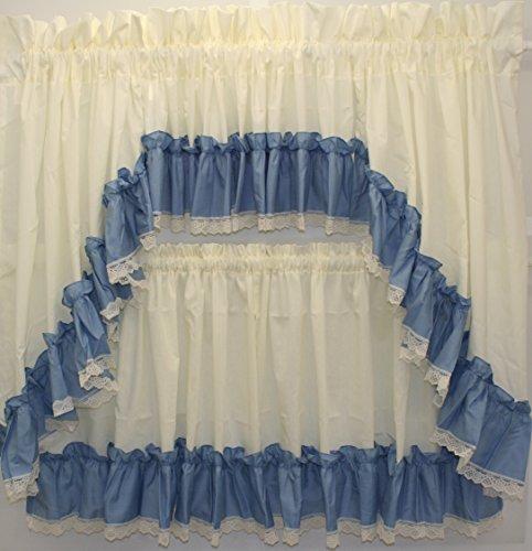 - The_Curtain_Shop Martha Extra Full Ruffled 82Wx38L Swag Pair- Slate