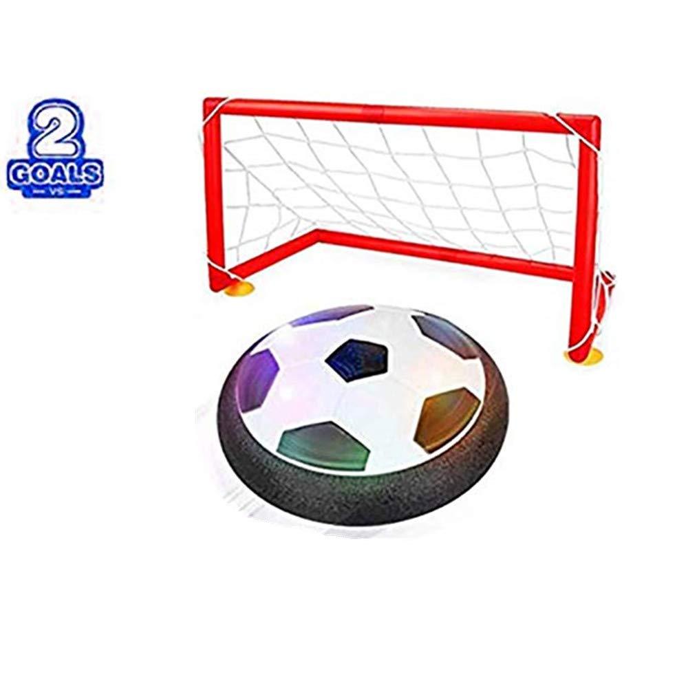 Kids AIR電源Football Boys Girls Sportおもちゃ子供トレーニングサッカーインドアアウトドアディスクHover Ball Game with FoamバンパーとLight Up LEDライト B07MXPWT61 With door