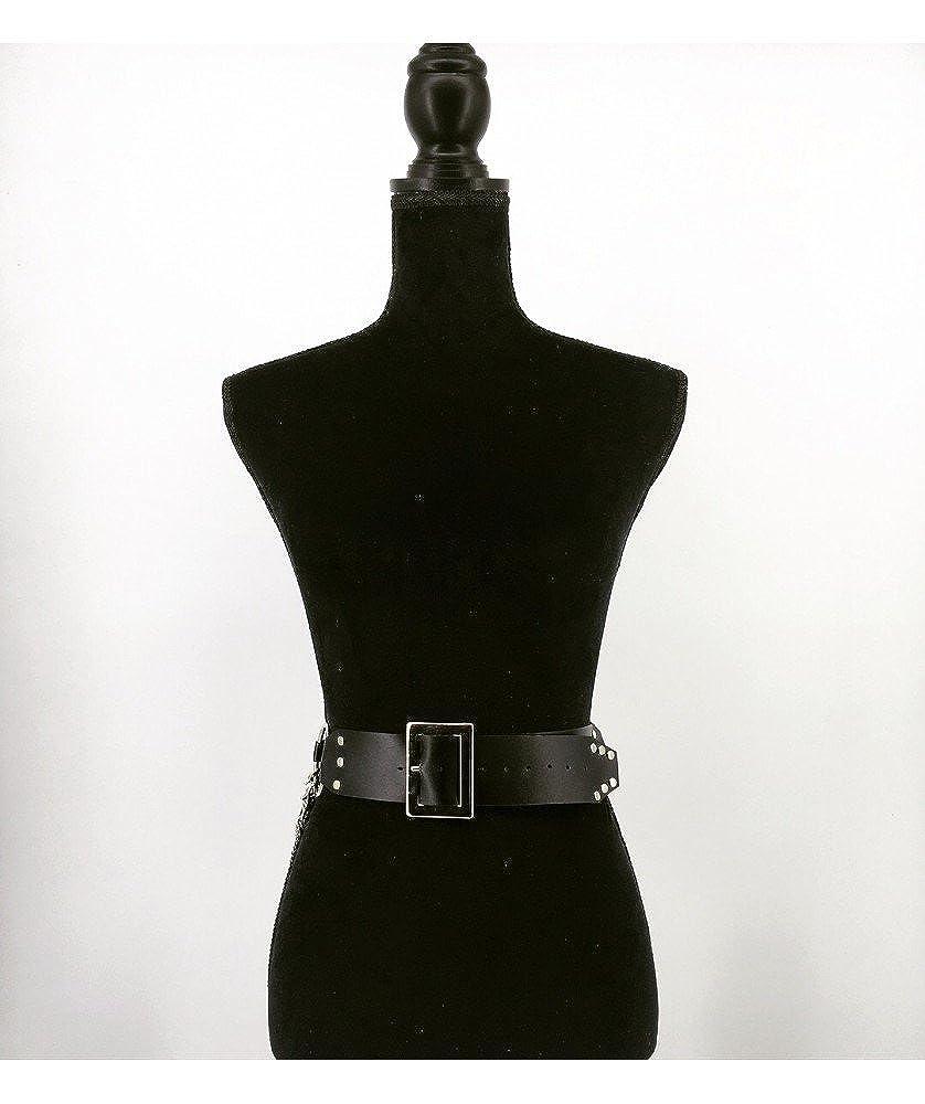 KELAND Damen Punk-Stil Harness Tailleng/ürtel G/ürtel Schwarz Nachtclub Leder Bekleidung