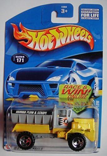 Hot Wheels 2002 Shock Factor #121 Razer Wheels on Race and Win Card Neon Yellow by Hot Wheels Mattel