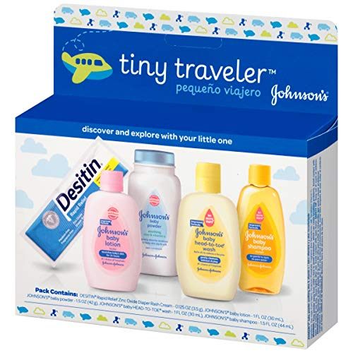 baby products, gifts,  gift sets 5 on sale Johnson & Johnson Baby Take Along Travel Pack (Baby in USA