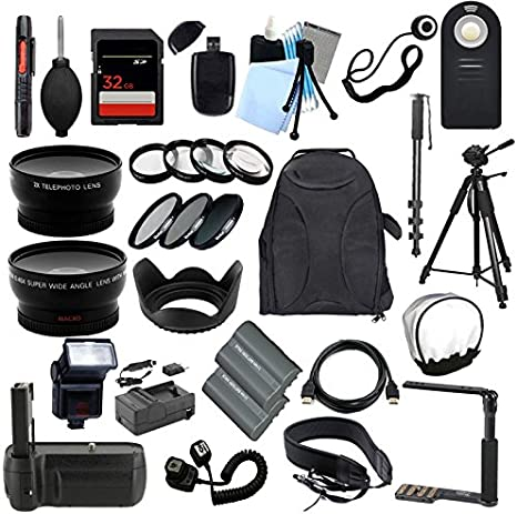 TODO lo que necesitas Kit de accesorios para la Nikon D90 Cámara ...