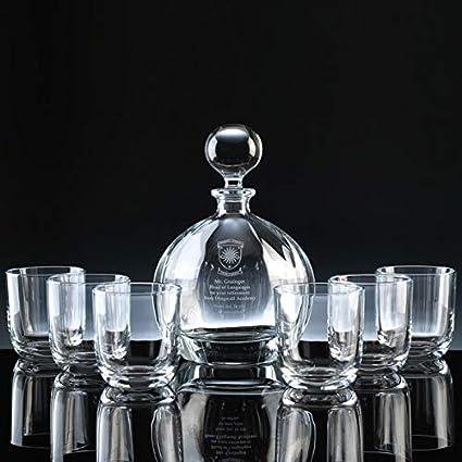 Vaso altos para cerveza de botella de whisky de cristal Orbit the engraving Gallery regalo Trophy