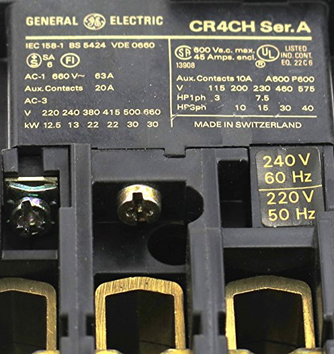 CR4CHB GE MAGNETIC CONTACTOR MADE BY SPRECHER SCHUH 240V AC (Ge Magnetic Contactor)