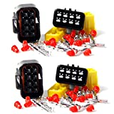 Qiorange Wire Cable Connector Plug in 8 Pins Way Waterproof Electrical Sets Car HID (8Pin 2 Set)