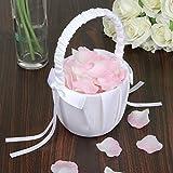 Agordo 3X(Soft Satin Bowknot Rinbon Flower Girl Basket for Wedding Ceremony Party W5Z8