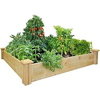 """Greenes Fence Raised Garden Bed, 48"""" L x 48"""" W x 7"""" H, Cedar"""