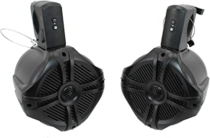 SDX Pro Audio - 10.10 inch 3100W Fully Wireless Bluetooth Marine Speaker  System (Pair) - Wakeboard Tower/Waketower and Fits Rollbar/Rollcage -