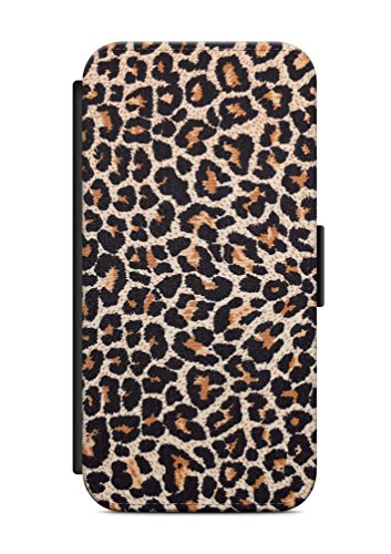 iPhone 6 6s Leopard Fell imitat Flip Tasche Hülle Case Cover Schutz Handy