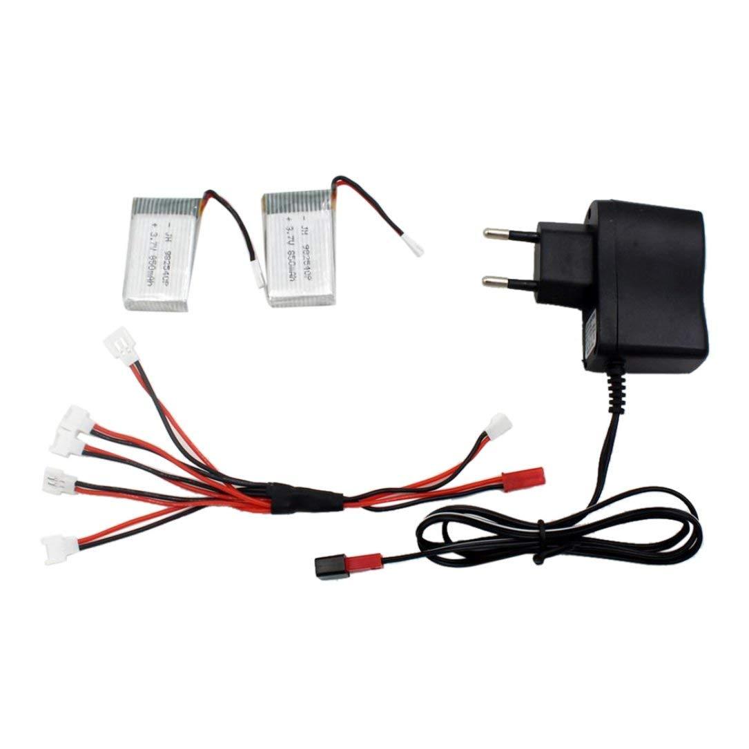 Monllack Excelente para los jóvenes y 3.7V 850MAH Juvenil 25C 2 Batería + Conversión de línea + Cabeza del Cargador de Metal