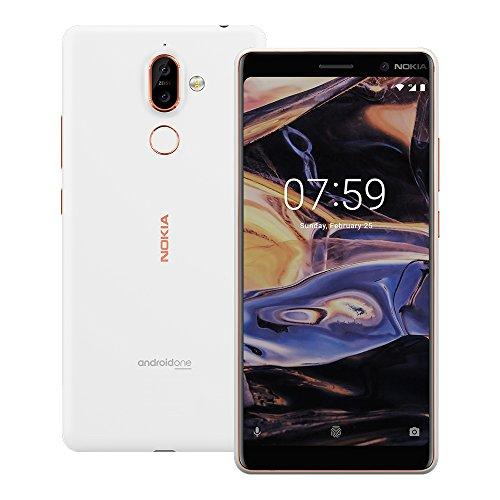"Nokia 7 Plus (TA-1062) 64GB White Copper, Dual Sim, 6"", 4RAM, GSM Unlocked International Model, No Warranty"