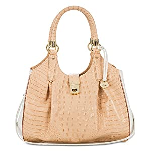 Brahmin Elisa Leather Cardon Hobo in Apricot