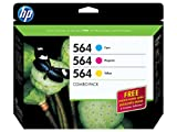 HP 564 Cyan, Magenta & Yellow Original Ink Cartridges with Photo Paper, 3 pack (B3B33FN) DISCONTINUED BY MANUFACTURER