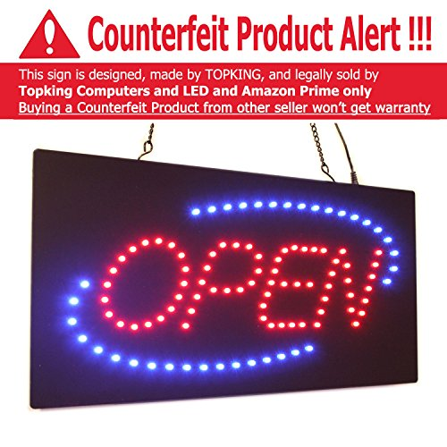 """Open Sign 19"""", Super Bright High Quality LED Open Sign, S..."""