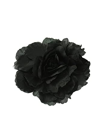 214510fc2 Zac's Alter Ego® Very Large Satin-Feel Rose Flower on Concord Clip & Brooch