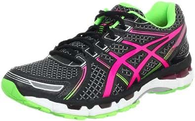 ASICS Women's Gel-Kayano 19 Running Shoe,Black/Electric Pink/Apple,13 M US