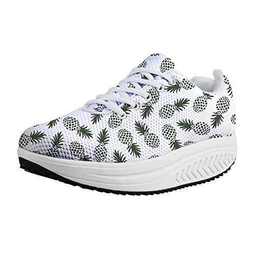 Women Shoes Breathable Mesh Leisure comfortable Shoes(green) - 5
