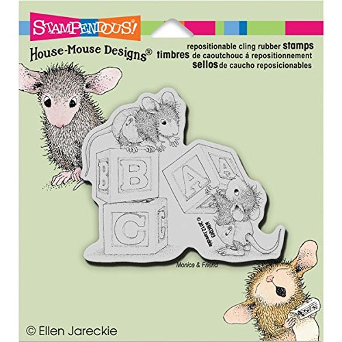 Stampendous House Mouse Cling Rubber Stamp, 5.5 by 4.5-Inch, Baby -