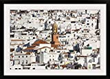 GreatBIGCanvas ''White town of Competa, La Axarquia, Malaga Province, Andalusia, Spain'' Photographic Print with Black Frame, 36'' x 24''
