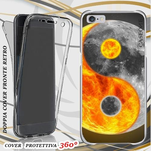 CUSTODIA COVER CASE MOON AND SUN PER IPHONE 6 PLUS FRONT BACK