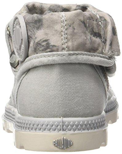 Unisex Palladium Marshmallow Vapor Low Baggy Grau Print Floral Zip Sneaker LP Kinder fA14qwHAx