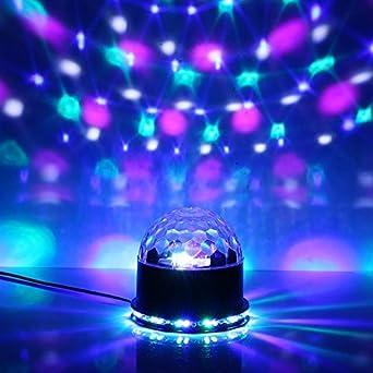 ghb jeux de lumiere disco boule lumineuse boule anniversaire couleur lumires musique led luminaire 51 pcs - Luminaire Boules Colores