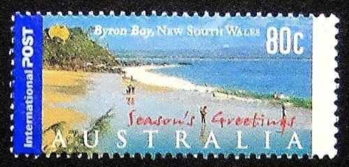 Byron Bay, New South Wales Australia -Postage Stamp Art 13307