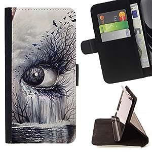 Momo Phone Case / Flip Funda de Cuero Case Cover - Arte Naturaleza Profundo Significado Cry Sad - MOTOROLA MOTO X PLAY XT1562