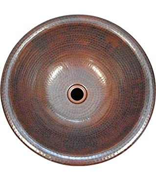 copper bathroom sinks. 15 Quot  Round Vessel Or Drop In Hand Hammered Copper Bath Sink