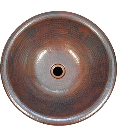 SimplyCopper 14'' Round Copper Bath Sink Vessel or Drop-In Sink by SimplyCopper