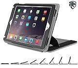 ZUGU CASE - Case Genius - iPad Air 1 / 2 / & New 2017 iPad 9.7 inch 5th Gen - Ajustable Stand - Wake / Sleep - Black
