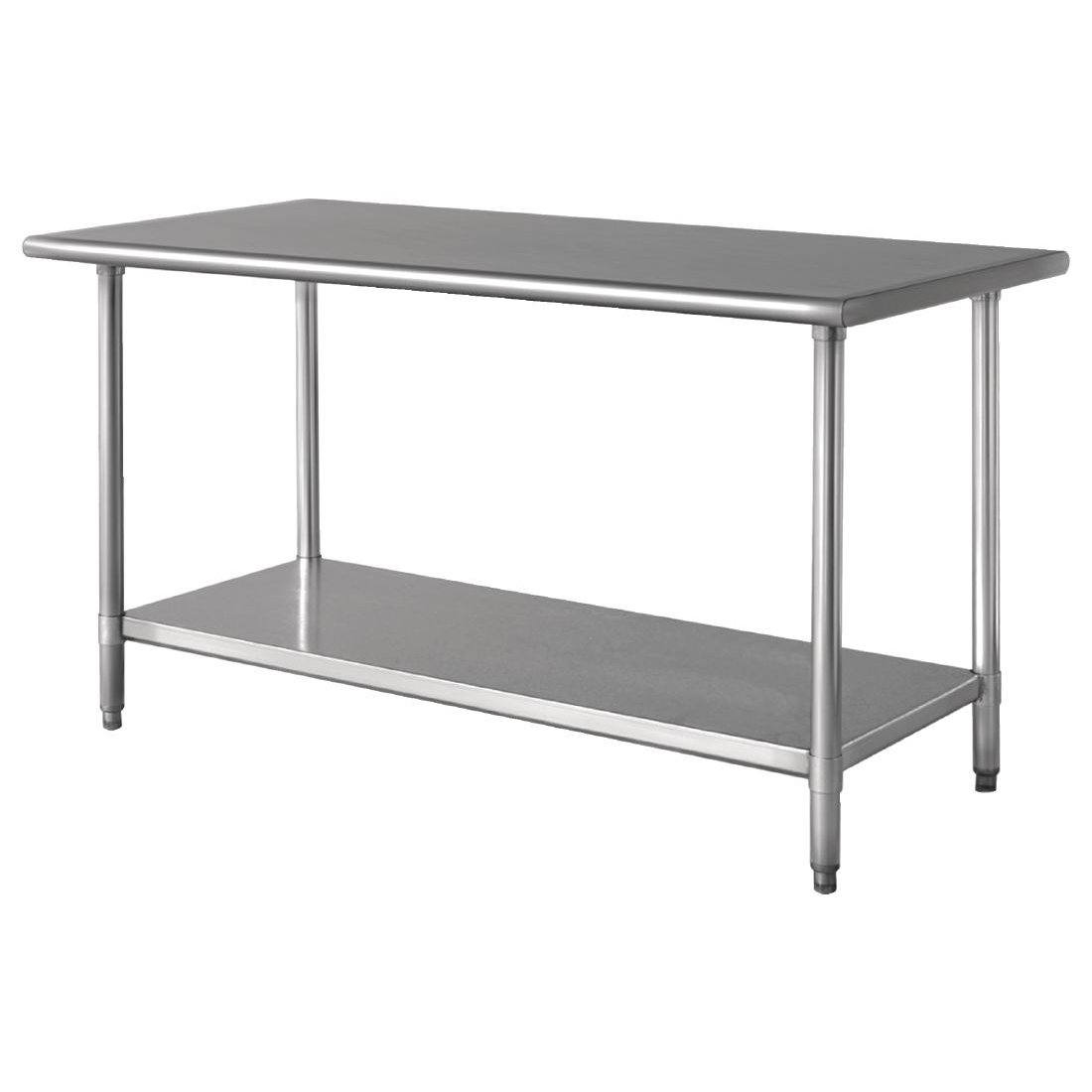Stainless Steel Work Table With Undershelf 35(H)x 36(W)x 24 (D)''. Stainless Steel
