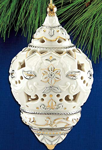 Lenox 2018 Annual Spire Ivory Porcelain 24 K Gold Accented Ornament 5.5