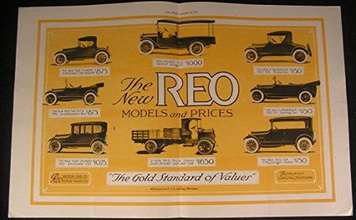 Reo Automobiles Touring Car Passenger Sedan 1916 vintage color Art Deco ad print - Olds Touring Sedan